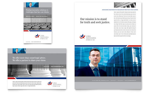 Legal & Government Services Flyer & Ad Template