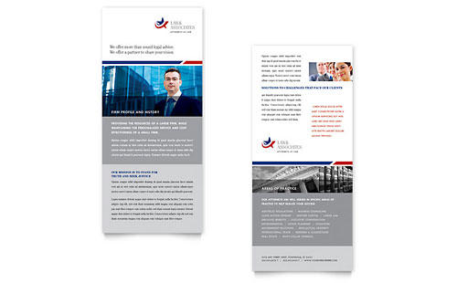 Legal & Government Services Rack Card Template