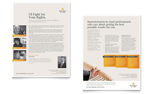 Legal Advocacy Datasheet Template