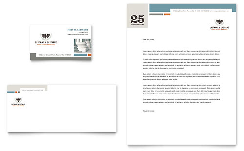 Family Law Attorneys Business Card & Letterhead Template