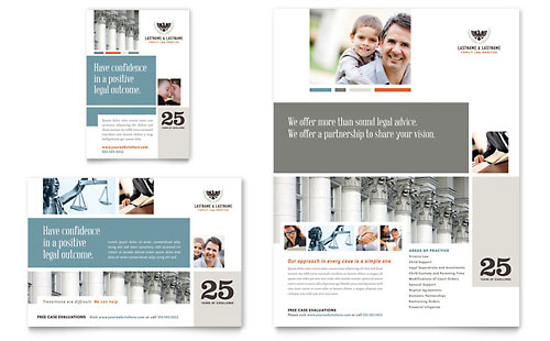 attorney print ad templates professional services