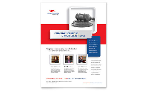 Justice Legal Services Flyer Template