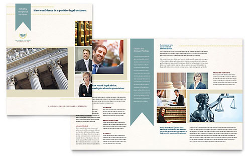 Law Firm Brochure Template