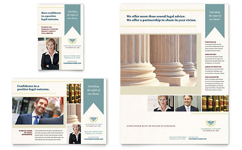 Law Firm Print Ad Template