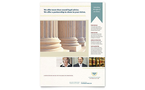 Law Firm Leaflet Template