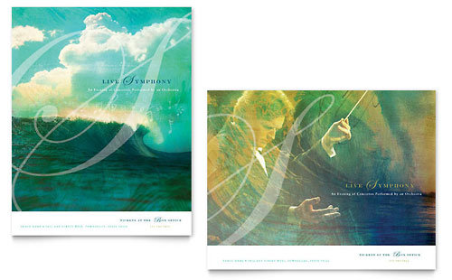 Symphony Orchestra Concert Event Poster Template