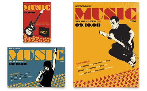 Live Music Festival Event Flyer & Ad Template
