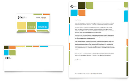 Arts Council & Education Business Card & Letterhead Template