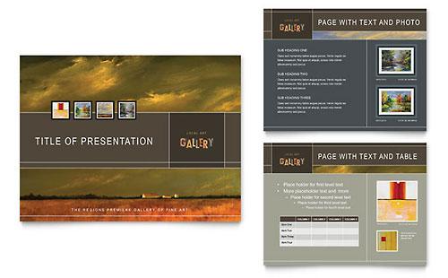 Art Gallery & Artist PowerPoint Template