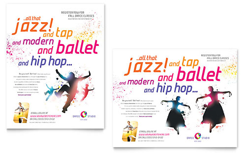 Dance Studio Poster Template
