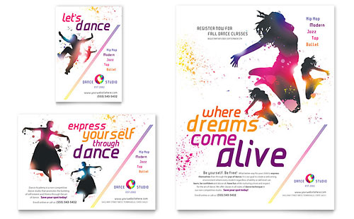Dance Studio Flyer & Ad Template