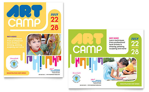Kids Art Camp Poster Template