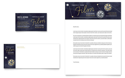 Film Festival Business Card & Letterhead Template