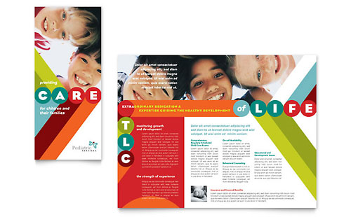Pediatrician & Child Care Brochure Template