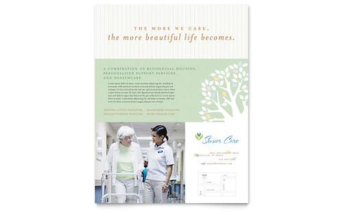 Elder Care & Nursing Home Flyer Template