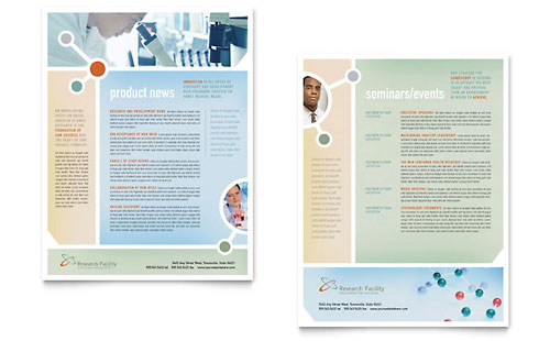 Medical Research Datasheet Template