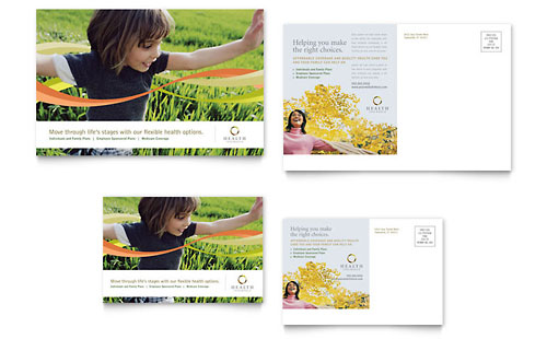 Health Insurance Company Postcard Template