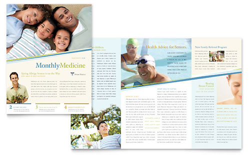 Family Practice | Half Fold Newsletter Templates | Medical ...