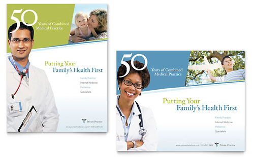Family Physician Poster Template