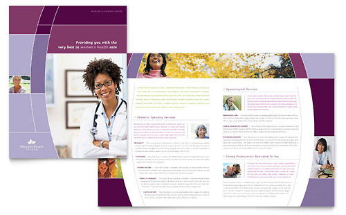 Women's Health Clinic Brochure Template