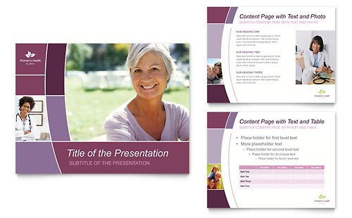 Women's Health Clinic PowerPoint Presentation Template