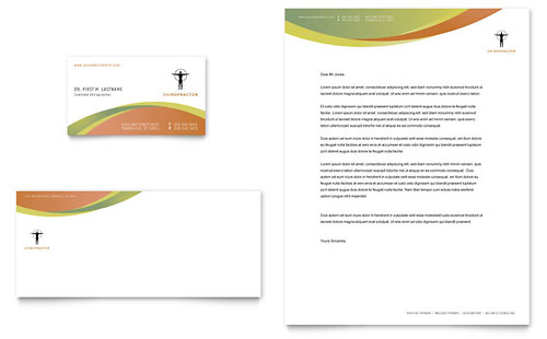 Massage & Chiropractic Business Card & Letterhead Template