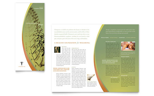 Massage & Chiropractic Tri Fold Brochure Template
