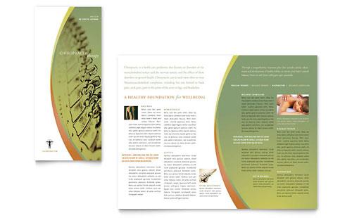Chiropractor massage therapist brochure templates for Free massage therapy brochure templates