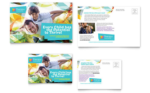 Adolescent Counseling Postcard Template