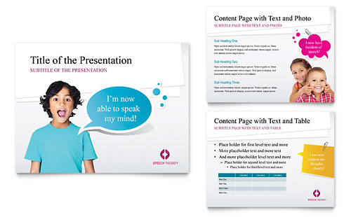 Speech Therapy Education PowerPoint Presentation Template