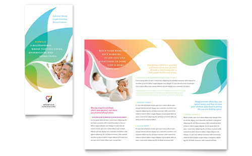 Marriage Counseling Tri Fold Brochure Template