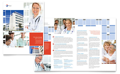 Medical health care brochures templates designs for Medical office brochure templates