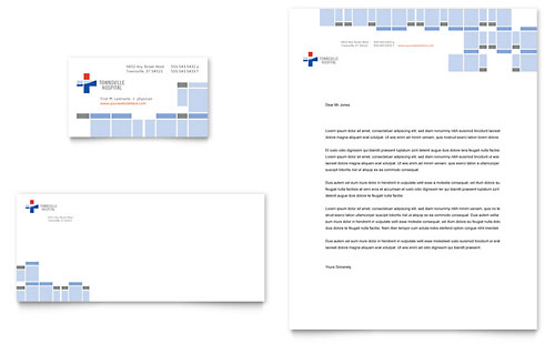 Hospital Business Card & Letterhead Template