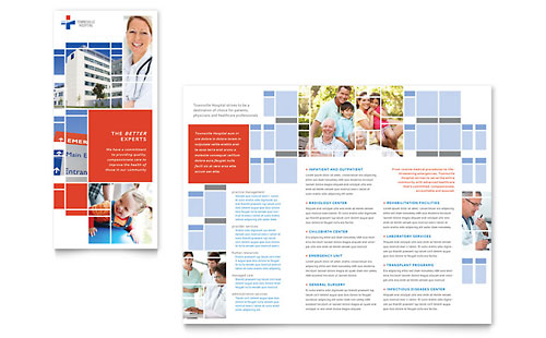 Hospital Tri Fold Brochure Template