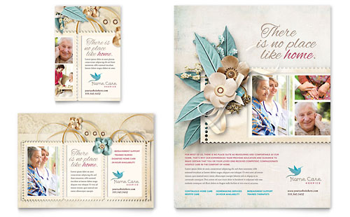 Hospice & Home Care Flyer & Ad Template