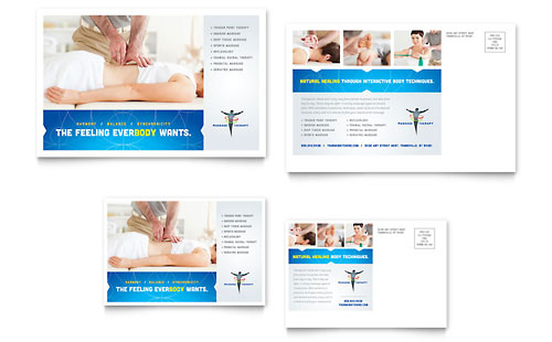 Reflexology & Massage Postcard Template