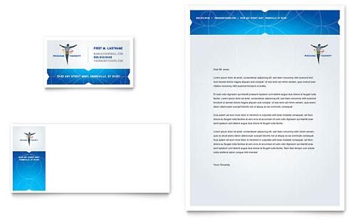 Reflexology & Massage - Business Card & Letterhead Template