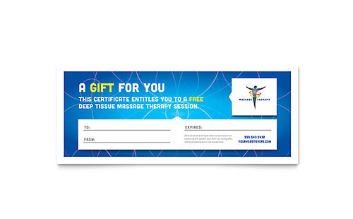 Reflexology & Massage Gift Certificate Template