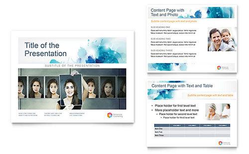 Behavioral Counseling PowerPoint Template