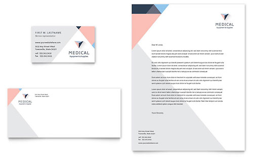 Home Medical Equipment Business Card & Letterhead Template