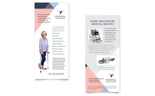 Medical health care rack card templates designs for Med cards template