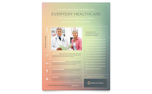 Medical Clinic Flyer Template
