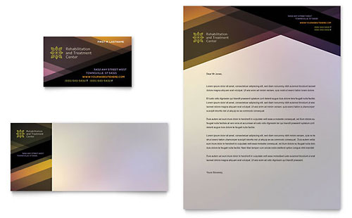 Rehab Center - Business Card Template