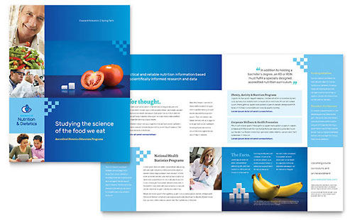 Dietitian Print Design Brochure Template