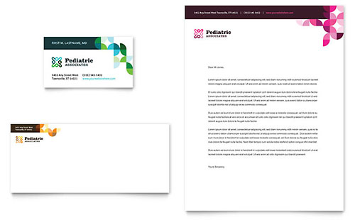 Pediatric Doctor Business Card & Letterhead Template