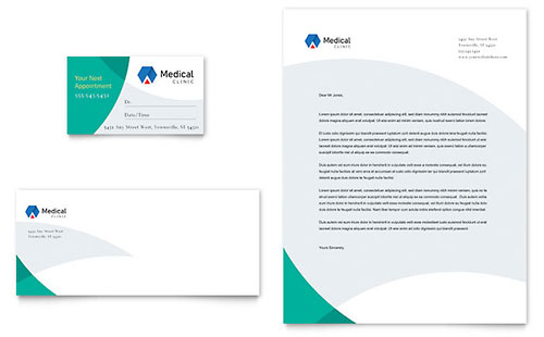 Doctors Office Business Card & Letterhead Template