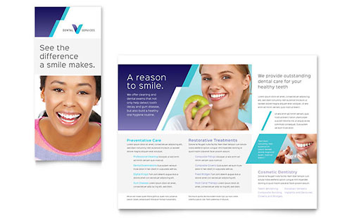 Medical Health Care Templates Designs Library on chiropractic office brochure