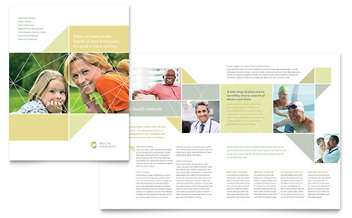 Health Insurance Brochure Template - QuarkXPress