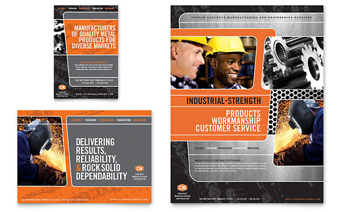 Manufacturing Engineering Flyer & Ad Template