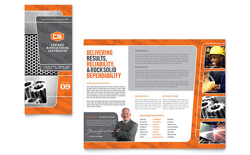 Manufacturing Engineering Tri Fold Brochure Template